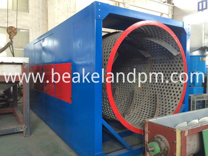 Plastic trommel equipment